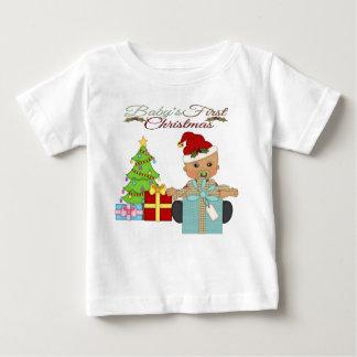 Pojke 1st T-tröja för julspädbarn T-shirts