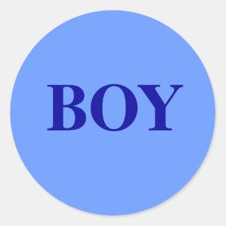 Pojke - babygender avslöjer runt klistermärke