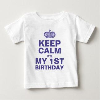 POJKE för FÖDELSEDAG för BEHÅLLALUGN 1ST Tee Shirt