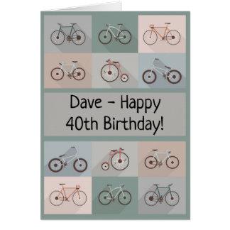 Pojke för manlig för man för cykelfödelsedagkort hälsningskort