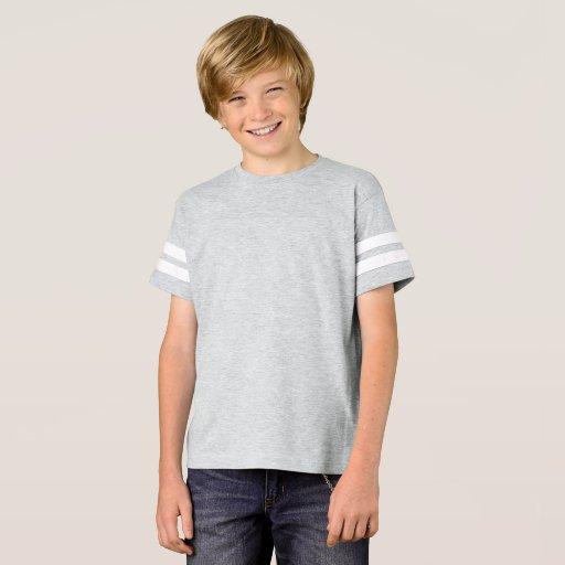 Barn Amerikansk Fotbolls Tröja, Melerad Grå