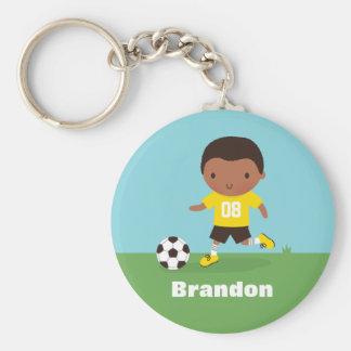 Pojke Keychain för afrikansk Rund Nyckelring