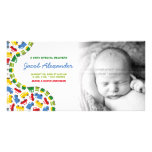 Pojke kort för foto för meddelande för leksakbaby