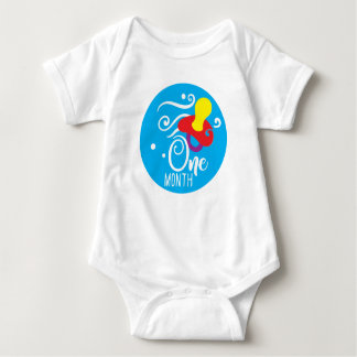 Pojke milstolpeVest för 1 månad T-shirt