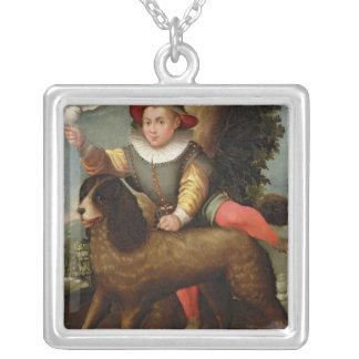 Pojke och hund, ` Bibius Vincit Silverpläterat Halsband