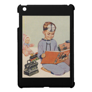 Pojke som leker den Retro doktorn - iPad Mini Mobil Fodral