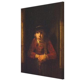Pojke som tittar till och med fönstret, c.1647 canvastryck