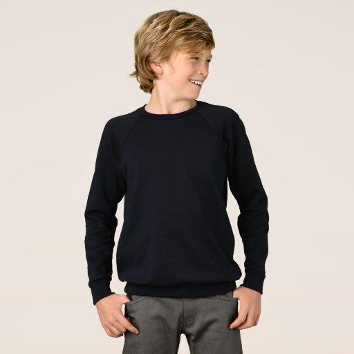 Barn American Apparel Raglan Sweatshirt, Svart