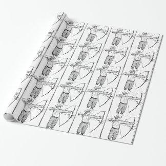 Pojkebågskyttillustration Presentpapper