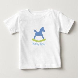Pojkeblått och gul vagga hästbabyTshirt Tee Shirt