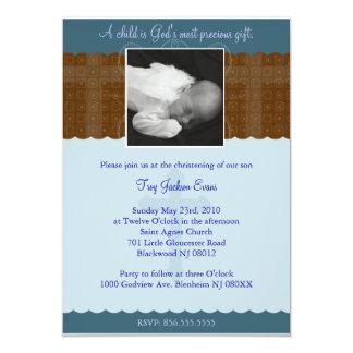 Pojkechristening-/dopinbjudan 12,7 X 17,8 Cm Inbjudningskort