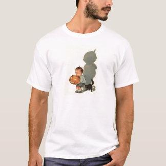 Pojkejack o lantern skuggar den svart katten tshirts