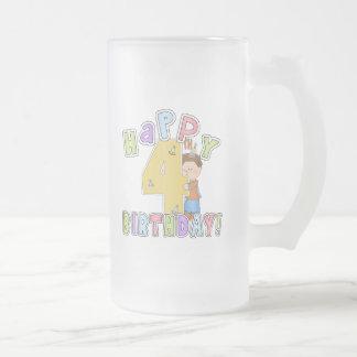 Pojkelycklig4e födelsedagen kaffe koppar