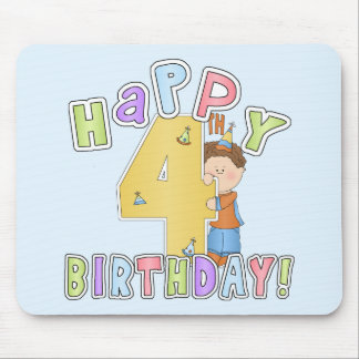 Pojkelycklig4e födelsedagen musmatta