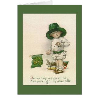 PojkeSts Patrick för vintage lite irländskt kort