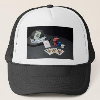 Poker cards gangsterhatten truckerkeps