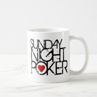 Poker för söndagnatt kaffemugg
