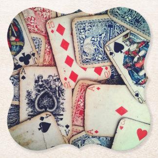 """""""Poker"""" pappersunderlägg Underlägg Papper"""