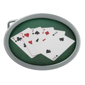 Poker räcker - fyra av en sort - Sevens och två
