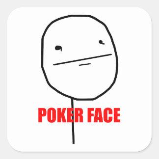 Pokeransikte - kvadrera klistermärkear fyrkantigt klistermärke