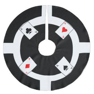Pokerchip - svart julgransmatta borstad polyester