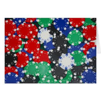 pokerchiper hälsningskort