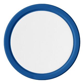 Pokerchiper med den fasta kanten för blått poker marker