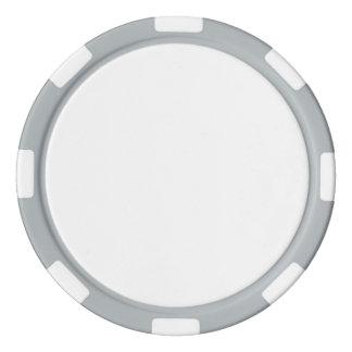 Pokerchiper med den grå färg görade randig kanten casino tokens