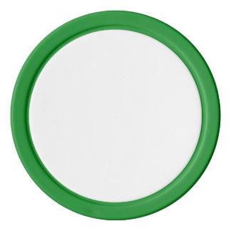 Pokerchiper med den gröna fasta kanten set av poker chips