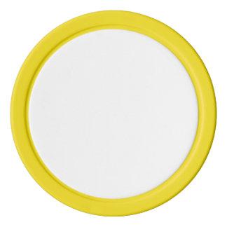 Pokerchiper med den gula fasta kanten poker marker