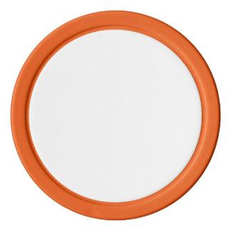 Pokerchiper med den orange fasta kanten poker marker