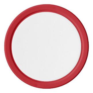 Pokerchiper med den röda fasta kanten tokens