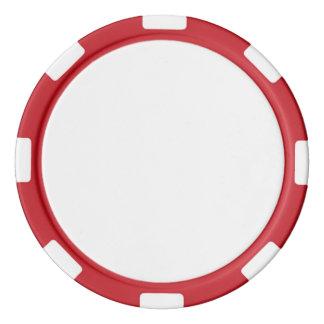 Pokerchiper med den röda randiga kanten poker chips