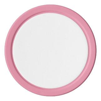 Pokerchiper med den rosa fasta kanten spel chips
