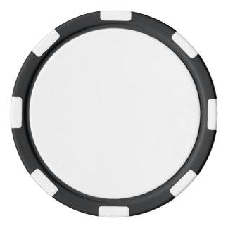 Pokerchiper med den svart görade randig kanten poker marker