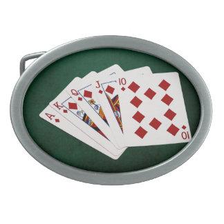 Pokerhänder - royalspolning - diamantkostym