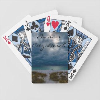 Pokerkort   med beskådar stränderna av Panama Cit
