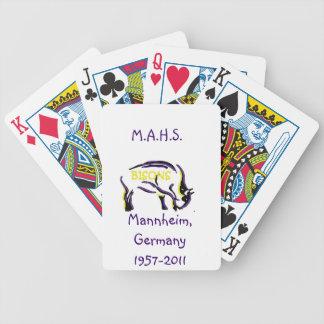 Pokerkort med den Mannheim bisonen