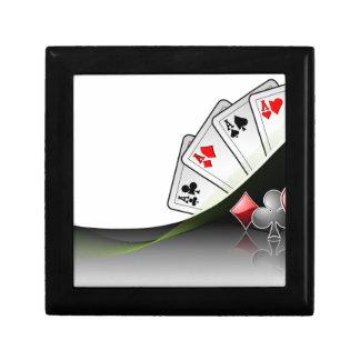 Pokerkort- och kasinosymboler presentskrin