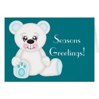Polar björn för blåttjul hälsningskort