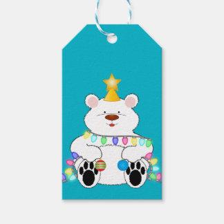 Polar björn för god jul presentetikett