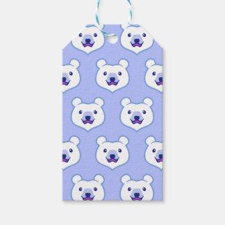 Polar björn för gullig Minimalist tecknad Presentetikett