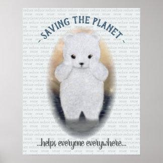 Polar björn för ledsen baby poster