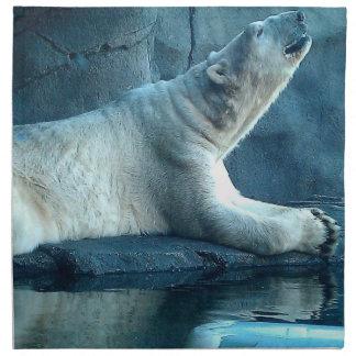 Polar björn i bönservett tygservett
