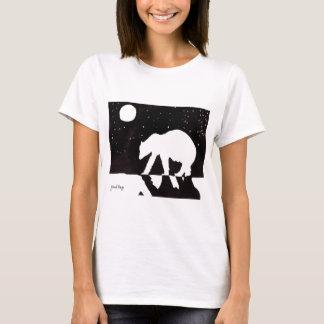 Polar björn på natten på arktiskt hav tröja