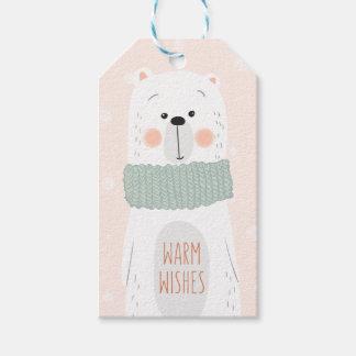 Polar björn - varmt önskemål - gullig presentetikett