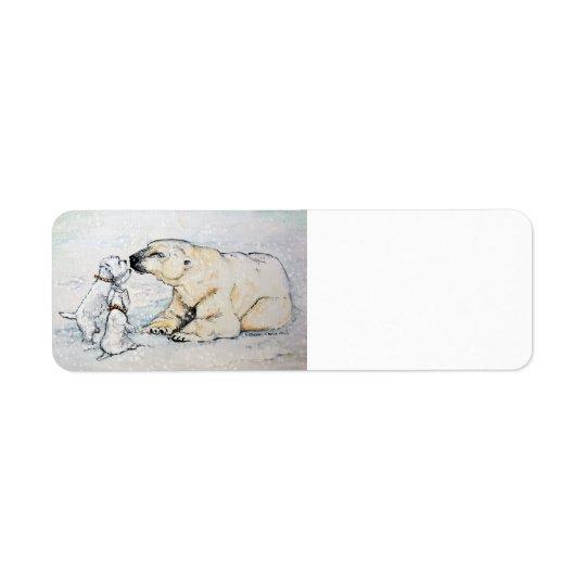 Polar björn Westies Returadress Etikett