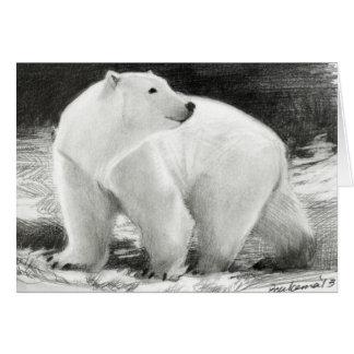 Polar björnhelgdaganpassade hälsningskort