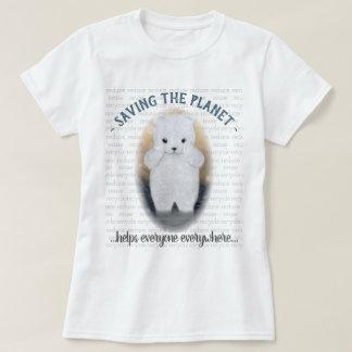 Polar björnklimatförändring för ledsen baby t shirt