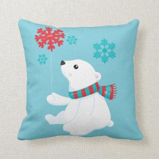 Polar helgdagjul för björn | kudde